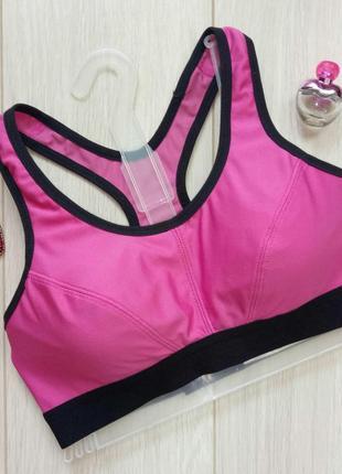 Яркий розовый спортивный лиф, топ, бра, лифчик, бюстгалтер, бюстгальтер