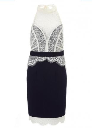 Ажурное элегантное платье lipsy m-l7 фото