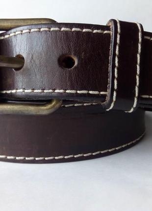 Кожаный коричневый ремень diesel