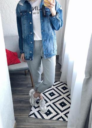 Джинсова куртка (джинсовка) подовжена3 фото
