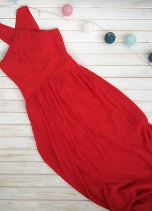 Шикарное алое вечернее платье little mistress