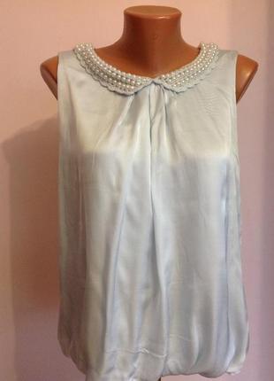 Итальянская симпатичная блузка. /l/ brend ambika. шёлк- вискоза