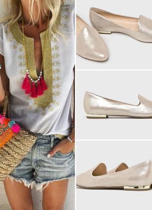 Нереально красивые балетки, слиперы, летние туфли из высококачественной натур. кожи