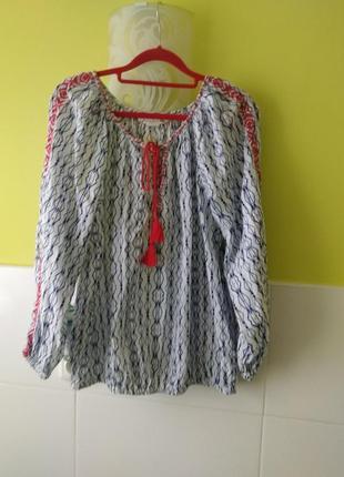 Рубашка свободного кроя с вышивкой от h&m