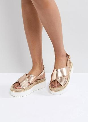 Босоножки сандалии на платформе асос asos