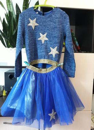 Красивый костюм с юбкой для девочки 128-134р