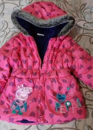 Куртка peppa pig на 2-3 года свинка пеппа