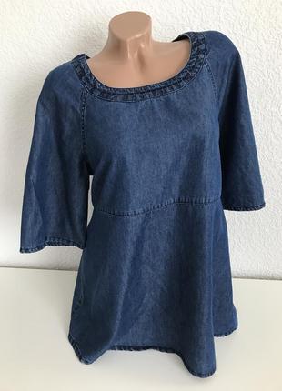 Классная джинсовая блуза туника tu