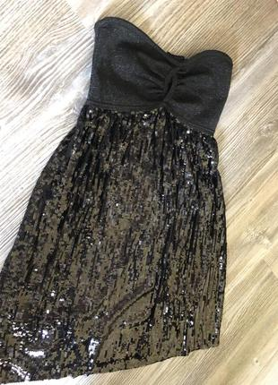 Маленькое чёрное платье на выпускной bebe оригинал куплено в сша за $160