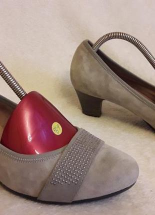 Натуральные замшевые туфли фирмы jana ( германия)