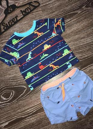 Комплект на лето мальчику футболка шорты zara