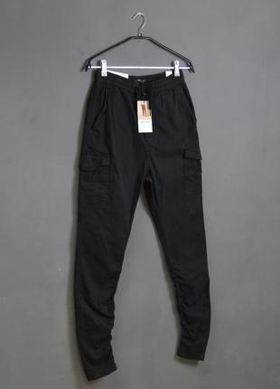 Новые штаны bershka cargo ruched pants