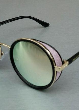 Jimmy choo очки женские солнцезащитные зеркальные круглые