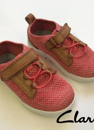 Текстильные дышащие кроссовки на мальчика clarks trigenic размер 22,5/6,6/стелька 15см.