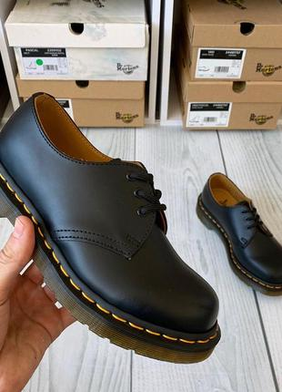 Туфли от dr.martens 1461 black smooth