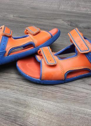 Кожаные сандалии босоножки clarks 32 размер