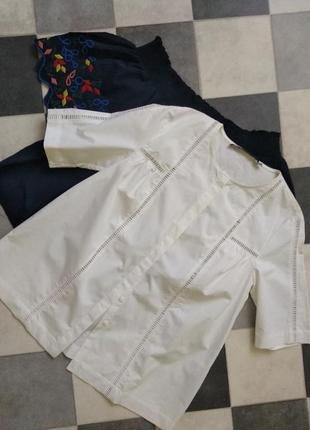 Белая рубашка с коротким рукавом оь & other stories