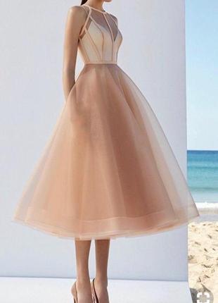 Выпускное платье вечернее платье ручной работы платье подружки невесты (возможен торг)