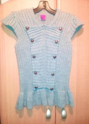 Продаю новый очень красивый оригинальный жилет для девочки-подростка