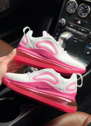 Шикарные женские кроссовки air max 720 white pink3 фото