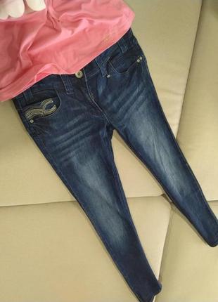 Шикарные фирменные джинсы скинни 38