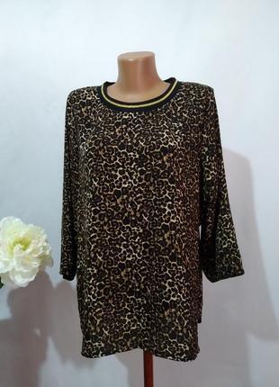Стильная актуальная блузка в леопардовый принт