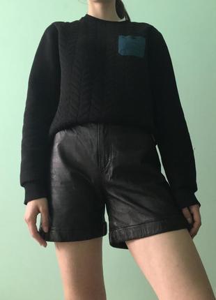 Нереальные шорты с натуральной кожи
