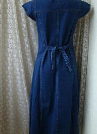 Платье хлопок джинс джинсовое длинное макси турция р.s3 фото