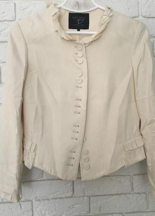 Шёлковый пиджак topshop by kate moss