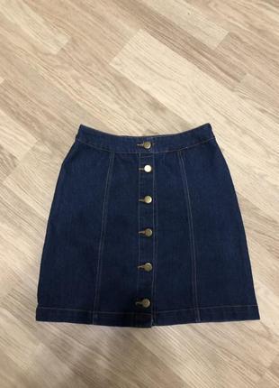 Юбка джинсовая на пуговицах boohoo, новая!