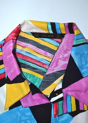 Рубашка удлиненная пляжная яркий принт  оверсайз zara.4 фото