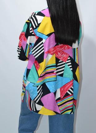 Рубашка удлиненная пляжная яркий принт  оверсайз zara.3 фото