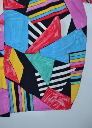Рубашка удлиненная пляжная яркий принт  оверсайз zara.6 фото