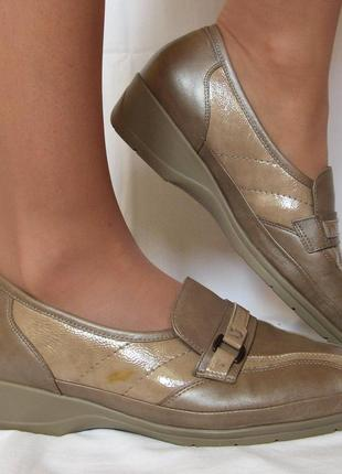 822. туфли waldlaufer кожа - 40, 5 р. на широкую н