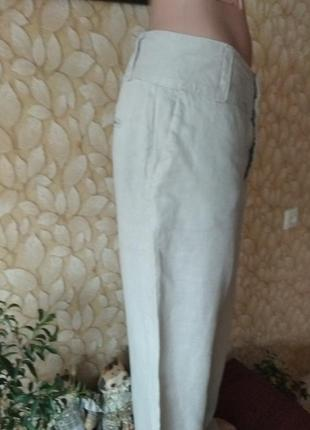Брюки штаны льняные zara2 фото