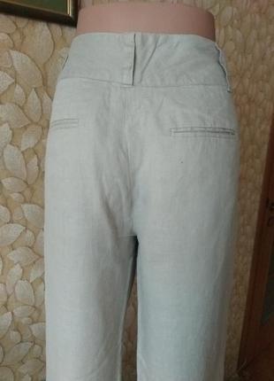 Брюки штаны льняные zara3 фото