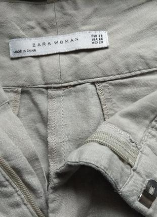 Брюки штаны льняные zara4 фото