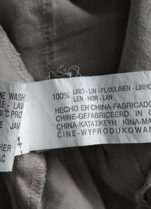 Брюки штаны льняные zara5 фото