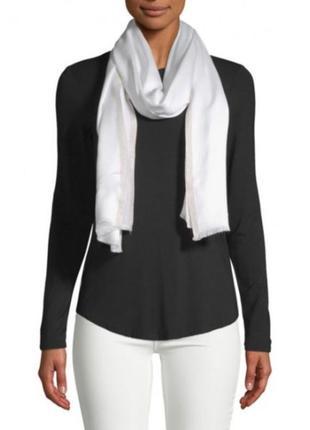 Белый шарф с люрексом calvin klein