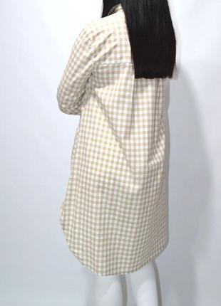 Удлиненная рубашка туника оверсайз zara.7 фото