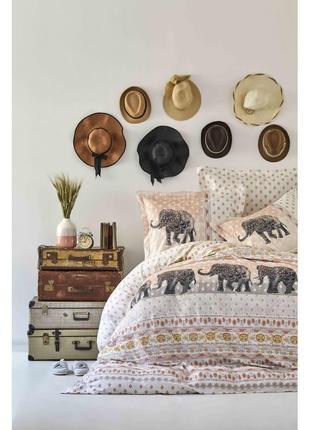 Постельное белье karaca home ранфорс - sandy полуторная постель слон