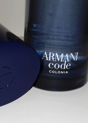 Giorgio armani code colonia туалетная вода тестер 75мл оригинал