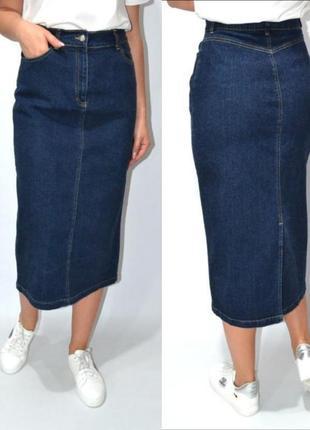 Юбка джинсовая миди высокая посадка  woman.