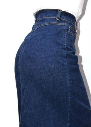 Юбка джинсовая миди высокая посадка  woman.2 фото