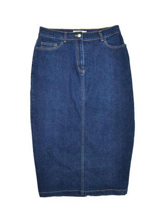 Юбка джинсовая миди высокая посадка  woman.3 фото