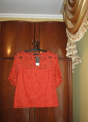 Кружевная блуза dorothy perkins, размер 16/44, новая с этикеткой