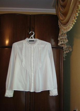 Красивая рубашка marks&spencer, 100% хлопок, размер 16/44
