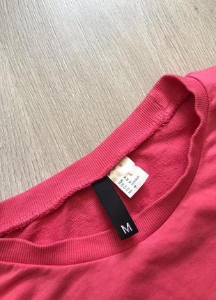 Світшот кофта рожева з принтом написом / свитшот реглан лонгслив з надписью4 фото