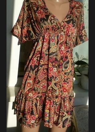 Платье  с воланами в стиле бохо zara