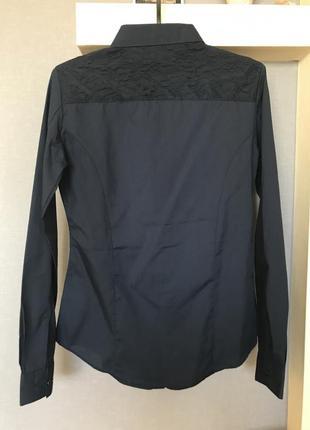 Темно синяя рубашка piazza italia2 фото